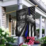 Jesus Christian Thin Blue Line Flag TRL165F