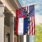 Mississippi And American Flag DDH1809F