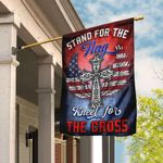 Stand For The Flag Kneel For The Cross Flag QNk327F