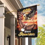 God Bless America Eagle Dreamcatcher Flag DBX1818F