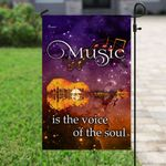Music Is The Voice Of The Soul Guitar Flag PS83F
