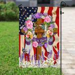 He Is Risen Christian American Flag PN251Fv1