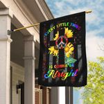 Every Little Thing Is Gonna Be Alright Hippie Christian Cross Flag DBX1582F