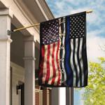 Police Thin Blue Line American Flag QNK322F