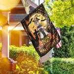 Schnauzer. Happy Halloween. Trick Or Treat America Flag THH2502F3