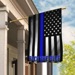 Police Law Enforcement. Back The Blue Flag THB2097F