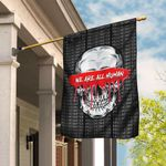 We Are All Human Skull Flag DBX1653F
