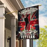 Veteran Remembrance Day Poppy Union Jack Flag THB2276F