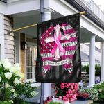 Faith Over Fear Breast Cancer Awareness Flag TRL284F