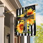 Softball Cross Sunflower American Flag QNK312F