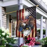 Police - Christian Cross American Us Flag TRL171F