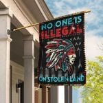 No One Is Illegal On Stolen Land Flag MLH1038F