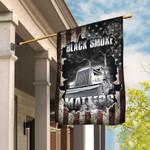 Trucker. Black Smoke Matters American US Flag TRN27F