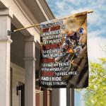 I Ride To Feel Strong Motocross Flag PS63Fl