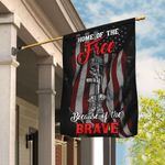 Home Of The Free Because Of The Brave Flag QNK290F