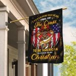 Stand For The Flag Kneel For The Cross Christian Firefighter Flag DBX1566F