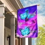 Butterfly. Faith, Hope, Love Flag THN2028F