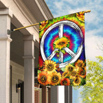 Hippie Tie Dye Sunflower Flag DDH1435F