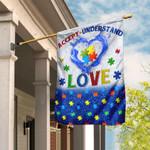 Accept, Understand, Love Autism Flag DDH1680F