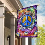 Peace Is Energy. Pass It On Hippie Flag TRN64F