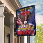Home Of The Free Because Of The Brave Flag QNK192F