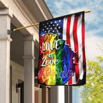 LGBT. Love Is Love American US Pride Flag THB1991F