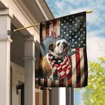 Bulldog Happy 4th Of July. American US Flag THN2196F