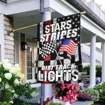 Stars, Stripes And Dirt Track Lights Flag LHA917F