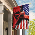Albanian American Flag QNK371F