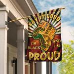 Juneteenth. Say It Loud I'm Black And I'm Proud Flag THN2164F1