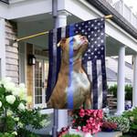 Pit Bull. Police Dog. The Thin Blue Line America Flag THB2452F1