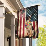 German Shepherd Hippy American US Flag TRL110F
