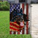 German Shepherd American Flag PN222F