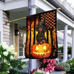 Dachshund Halloween Pumpkin America Flag THB2460F