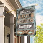 Welcome To Our Lake House Flag DLP16F