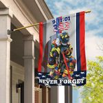 Firefighter 9-11-01. 343 Never Forget Flag THB2364F