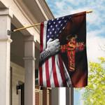 Jesus Saves American US Flag TLP13F