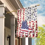 Pitbull Celebrate Fourth Of July Independence Day Flag DDH1624F