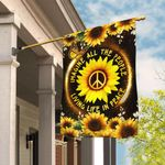 Hippie Sunflower. Imagine All The People Living Life In Peace Flag THB2268F