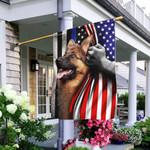 German Shepherd. The Thin Blue Line America US Flag THB2449F