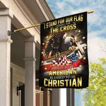I Stand For Our Flag I Kneel For The Cross. American Eagle Christian Cross Flag THB2202F