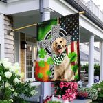 Golden Retriever Irish Cross Flag TRL91F2