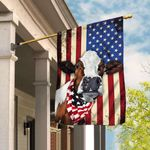Cow Cattle Happy 4th Of July. American US Flag THB2206F
