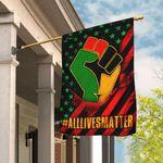 All Lives Matter African American Flag DBX1635Fv1