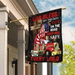 God Bless My Trucker Out On The Road Flag QNN217F