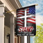 America. Stand For The Flag Kneel For The Cross Flag THB2051F