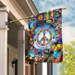 Hippie. Imagine All The People Living Life In Peace Flag THH2343F