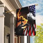 Jesus Christian Veteran American Flag THH2315F