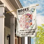 Books Give Life To Everything Love Reading Flag DBX1596F