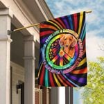 Peace Love & Dachshund Hippie Flag QNN207Fv1